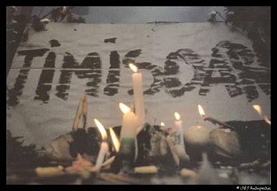 25 de ani de la inceputul Revolutiei din 1989, la Timisoara. Presedintele ales Klaus Iohannis participa la manifestari