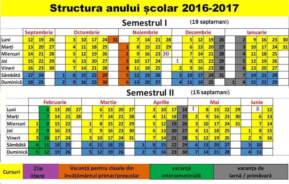 calendar 2016 decembrie