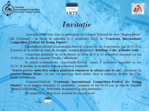 Competiție pianistică – Constanța International Competition Festival for Young Pianists