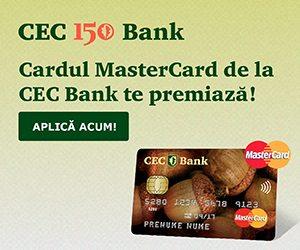 CEC Bank te premiază! Aplică ACUM!