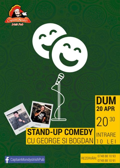 "De PAȘTE, ""Stand-Up Comedy"", la Captain Mondy's Irish Pub din Mangalia"