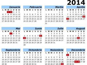 Calendar Zile Lucratoare 2016 | Calendar Template 2016
